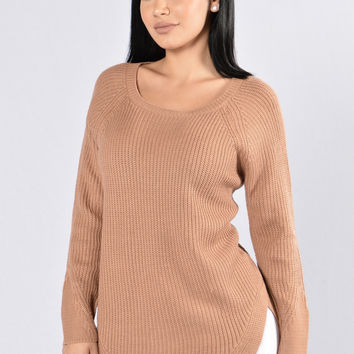 Ribbed My Heart Sweater - Pink