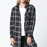 Lira Madison Plaid Longline Tunic Shirt at PacSun.com