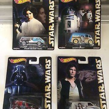 Hot Wheels Pop Culture Star Wars Set Of 4 NEW