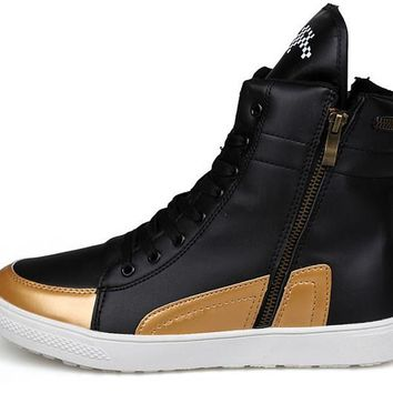 Men Boots New British Style PU Leather