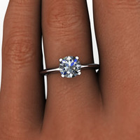 WEEKEND DEAL!  Forever Brilliant Moissanite Cushion Cut Solitaire 1.70 CTW