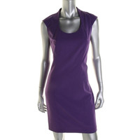 Marc New York Womens Seamed Cap Sleeves Casual Dress