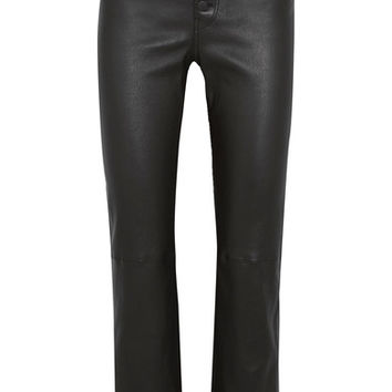 Joseph - Den cropped stretch-leather straight-leg pants