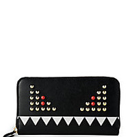 Fendi - Leather Monster Zip-Around Wallet - Saks Fifth Avenue Mobile