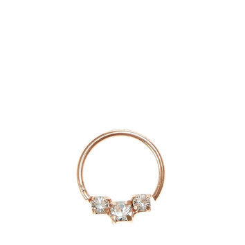 Rhinestone Rose Gold Cartilage Hoop Ring