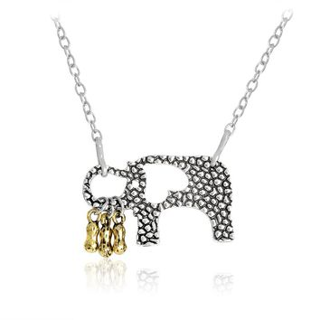 Elephant necklace 1-5 Little Peanuts Animal Pendant Gold Or Silver