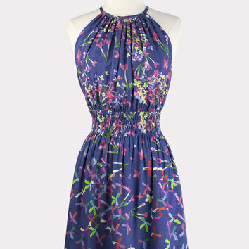 Pinwheel Print Dress