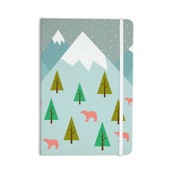 "Cristina bianco Design ""Bears Illustration"" Blue Nature Everything Notebook"