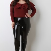 Vegan Patent Leather Leggings