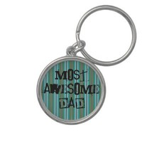 Most Awesome Dad Keychain from Zazzle.com