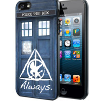 Tardis Doctor Who Hunger Games Always Harry Potter Samsung Galaxy S3 S4 S5 Note 3 , iPhone 4 5 5c 6 Plus , iPod 4 5 case