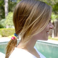 The Perfect Ponytail Holder by Preppy Pieces - 20 No Crease Hair Ties - Soft Cloth Bracelets - Great Christmas Gift for Girls and Women