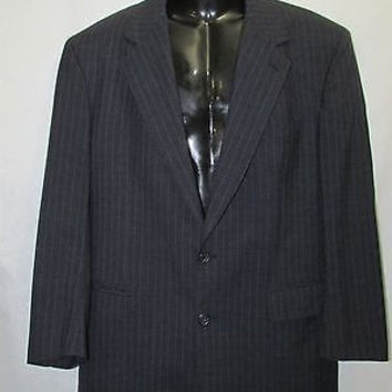 SALE Brooks Brothers Mens Coat  only  46, Gray, Striped, Two Button