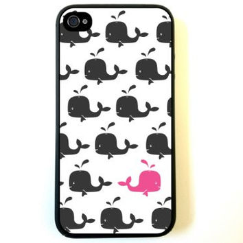 Hiding Pink Whale iPhone 4 Case Fits iPhone 4 & iPhone 4S