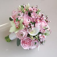 Cherry blossom bouquet, sakura bouquet, bridal bouquet, alternative bouquet