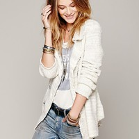 Free People Zebra Sweater Jacket