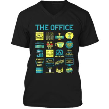 The Office Quote Mash-Up Funny  - Official Tee Mens Printed V-Neck T