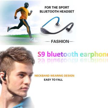 S9 Wireless Bluetooth Headphone Stereo Headset Sports Speaker Neckband Earphones 4.0 With Retail Package For Samsung S4 Huawei Iphone