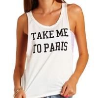 MESSAGE GRAPHIC MUSCLE TEE