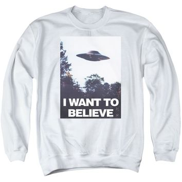 X Files - Believe Poster Adult Crewneck Sweatshirt Officially Licensed Apparel