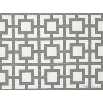 Premier Prints Gigi Slub Ash Grey Geometric Fabric
