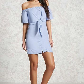 Off-the-Shoulder Knotted Dress