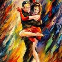 THE SUBLIME TANGO — Palette knife Oil Painting on Canvas by Leonid Afremov - Size 24x36. 10% discount coupon - deviantart10off