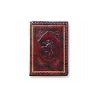 Brown Lion Crest Leather Refillable Journal - Embossing Personalized Gift Item