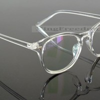 Vintage Eyeglass Frame Retro clear transparent Full Rim Plain Glasses Spectacles