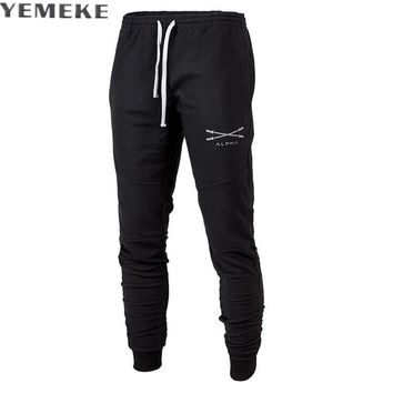 Men Sweatpants Male Cotton Harem Pants Joggers Casual Men Joggers Solid Trousers for Men