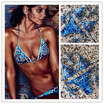 Beach Swimsuit Hot New Arrival Sexy Summer Vintage Print Ladies Swimwear Bikini [4970314372]