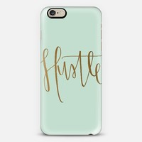 Hustle - mint and gold iPhone 6 case by Chalkfulloflove | Casetify