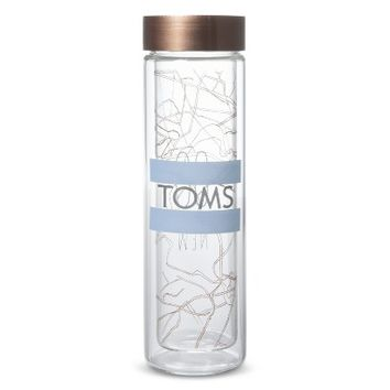 TOMS for Target Glass Double Wall Hot and Cold Beverage Bottle - Map(13.5 ounce)