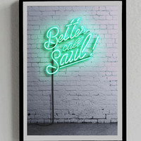 Breaking Bad Poster, Better Call Saul, Neon Sign, Room, Wall, Decor, Print, Gift, Picture, green