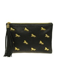 ASOS Multi Zip Horse Clutch at asos.com
