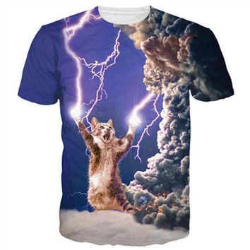 Lightning Thunder Cat T-Shirt