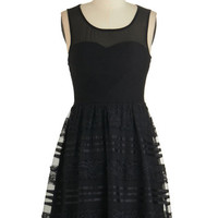 ModCloth LBD Sleeveless A-line All That and Noir Dress