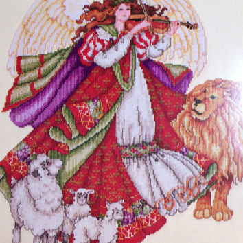 Angel of Peace Cross Stitch Pattern by Barbara Baatz, Cross Stitch Masterpiece Collection