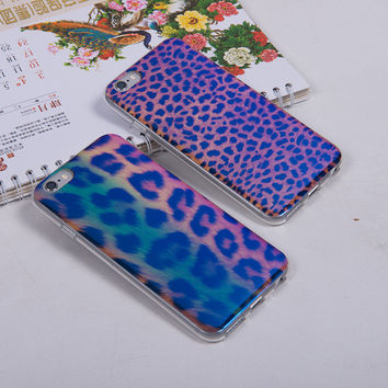 Cute Soft Laser Leopard Case for iPhone