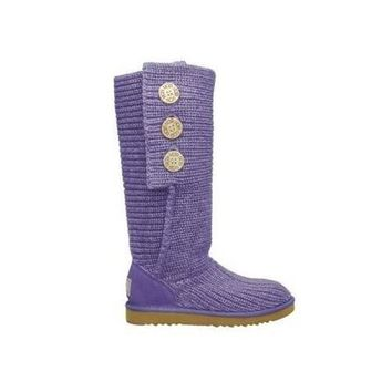 Uggs Boots Cyber Monday Knit Classic Cardy 5819 Purple For Women 81 14