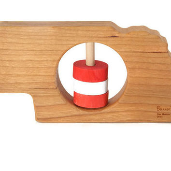 Nebraska Baby Rattle - Modern Wooden Baby Toy - Organic and Natural