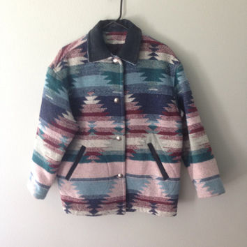 Vintage rare indian blanket style coat