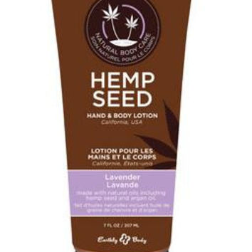 Hemp Seed Hand and Body  Lotion - Lavender - 7 Oz.  Tube