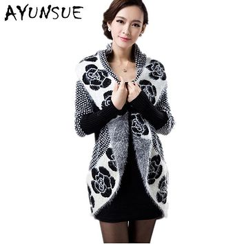 Women Cardigan 2017 Casual Knitted Wool Sweater Coats Fashion Autumn Winter Long Sleeve Elegant Female Cardigans S1244