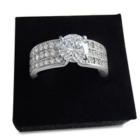 Vintage Style Solitaire Cubic Zirconia Diamond Ring - CZ ring