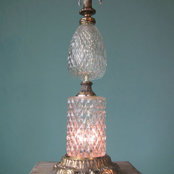 Stunning Crystal Prism Table Lamp-Paris Apartment-Romantic Lighting-Vintage Home Decor