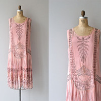 Rose Royale dress • vintage 1920s dress • silk beaded flapper 20s dress