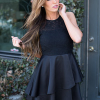Elegant As a Swan Dress Black