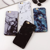 Fashion Phone Case For iPhone 7 6 6s SE 5 5s Capa Marble Stone Painted Protector Back Cover Case For iphone 7 6 6s Plus Fundas