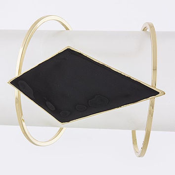 Black & Gold Simple Kite Cuff